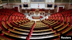 A general view shows the hemicycle of the French National Assembly before its opening session in Paris, France. June 27, 2017.