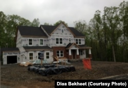 A new family house is under construction in Loudoun County, Virginia. The county has seen major development in recent years.