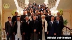 کاندیدان ریاست جمهوری افغانستان در ملاقات با حامد کرزی