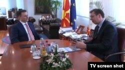 Premijeri Makedonije i Srbije, Nikola Gruevski i Aleksandar Vučić, Skoplje 16. februar 2015.
