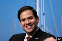 Republican presidential candidate Sen. Marco Rubio, R-Fla. during a campaign event at Saint Anselm College in Manchester, New Hampshire, Nov. 4, 2015. (
