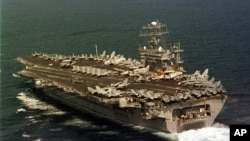 The US Navy aircraft carrier USS Nimitz