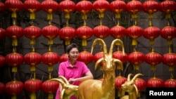 2015年2月19日曼谷中國城慶祝羊年中國新年。