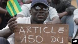 Un manifestant togolais.