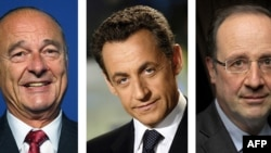 Jacques Chirac, Nicolas Sarkozy e Francois Hollande