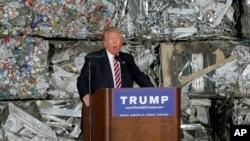 """La premisa de su oratoria fue que los acuerdos de libre comercio, que por años fueron defendidos por el Partido Republicano, """"han sido malnegociados""""."""