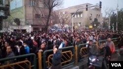 İranda keçən ilin sonu bu ayın əvvəli vüsət almış etirazlar zamanı çəkilmiş görüntü