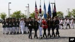 지난해 5월 주한미군사령부가 위치한 한국 평택 캠프험프리에서 미국의 현충일인 메모리얼데이 기념식이 열렸다.