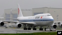 Un Boeing 747-8 de Air China.