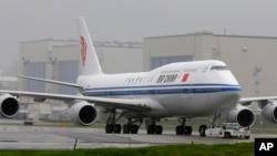 Un Boeing 747-8 de Air China.