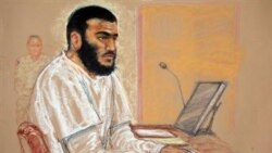 عمر خدر، زندانی کانادایی در دادگاه نظامی گوانتاناموبی