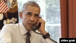 In a video, humorist Luis Silva, playing the elderly character Panfilo, calls Washington to find out the weather forecast for Tuesday's baseball game between the Cuban national team and the U.S. professional team Tampa Bay Rays and speaks to U.S. President Barack Obama.