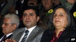 BDP Eş Başkanları Selahattin Demirtaş ve Gülten Kışanak