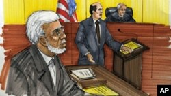 In this courtroom sketch, Chicago businessman Tahawwur Rana is shown in federal court in Chicago. Rana, 50, is accused in the 2008 Mumbai rampage that left more than 160 people dead, and planning an attack that was never carried out on a Danish newspaper.
