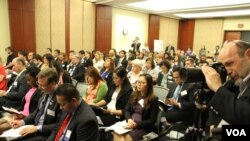 Overview of participants at the 40th Anniversary Celebration of the US-ASEAN Partnership, Capitol Visitor Center, Washington DC, Tuesday May 16, 2017. (Seourn Vathana/VOA Khmer)