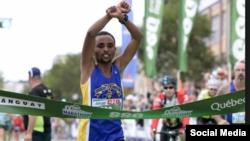 Atileeti Eebbisaa Margaa Ijjiguu maratoonii Kubek moo'ee mallattoo mormii Oromoo agarsiise