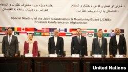 به شمول رئیس جمهور و رئیس اجرائیه، شماری از اعضای کابینۀ افغانستان در نشست بروکسل شرکت میکنند