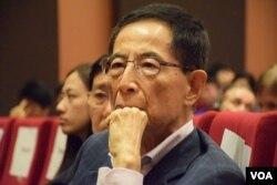 香港民主黨創黨主席李柱銘。(美國之音湯惠芸攝)