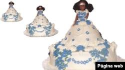 Imagem ilustrativa de uma boneca para bolos de noiva