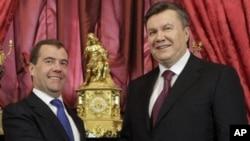 Дмитрий Медведев и Виктор Янукович. Архивное фото.