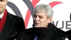 Ndërtimi i sheshit Skënderbe në Shkup
