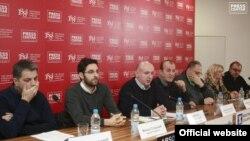 Predstavnici medijske koalicije Srbije (http://presscentar.uns.org.rs)