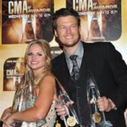 Miranda Lambert and Blake Shelton at the CMA Awards