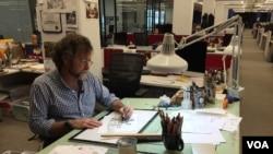 Matt Wuerker, a Pulitzer-Prize winning cartoonist at Politico, creates an average of three cartoons a week.
