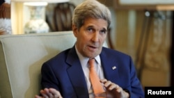 FILE - U.S. Secretary of State John Kerry will visit Doha to meet with representatives from Gulf Cooperation Council nations about the P5+1 nuclear accord with Iran.