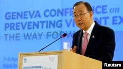 Ban Ki-moon mu nama i Geneve mu Busuwisi