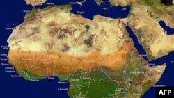 نقشه منطقه ساحل آفریقا