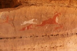 Rock art is pictured at Tadrart Acacus, in Ghat, Libya, May 30, 2014.