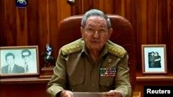 Raoul Castro, lúc còn là chủ tịch Cuba, nói trên truyền hình ở Havana hôm 17/12/2014. Người đứng đầu Đảng Cộng sản Cuba chỉ trích Mỹ trong một bài phát biểu hôm 1/1 nhân kỷ niệm 60 năm cách mạng Cuba.