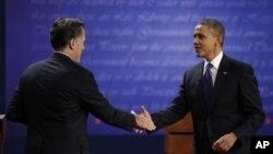 Tổng thống Hoa Kỳ Barack Obama và ứng cử viên của đảng Cộng hòa Mitt Romney