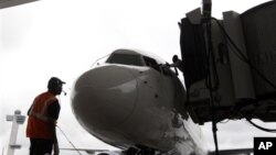Un avion de Delta Airlines le 1er août 2012 à l'aéroport JFK International.