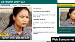 Tin giết người cướp của trên báo mạng ở Việt Nam. Thời gian gần đây một số tờ báo đua nhau đăng tin về các vụ trọng án, trong đó có những bài 'mô tả chi tiết tội ác' hoặc 'khai thác thông tin giật gân xung quanh vụ án', 'xâm phạm quyền riêng tư của công dân.'