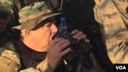 General Abdul Rashid Do'stum shimoldagi Faryob viloyatida jangarilarga qarshi amaliyot paytida, Afg'oniston