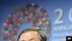 中國人民銀行行長周小川日前在華盛頓參加國際貨幣基金組織會議