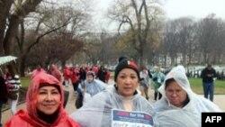 Uashington: Mijëra protestues mblidhen në lulishten kombëtare të qytetit
