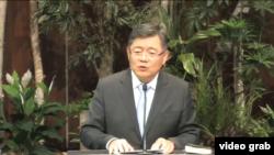 임현수 목사가 지난 1월 북한 방문을 앞두고 캐나다 '큰빛교회'에서 설교하고 있다. 임 목사는 북한 입국 후 연락이 두절됐다. (자료사진)