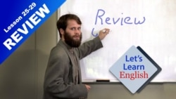Let's Learn English Review of Lessons 25-29