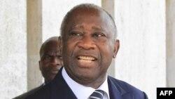 Tổng thống đường nhiệm Laurent Gbagbo của Cote D'Ivoire (ảnh tư liệu)