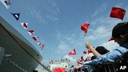 中國海軍兩艘戰艦訪港。