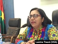 Bineswaree Aruna Bolaky, économiste à la division de l'Afrique de la CNUCED, le 24 novembre 2018. (VOA/Lamine Traoré)