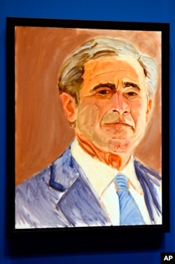 FILE - A self portrait of former President George W. Bush.