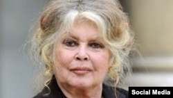 FILE - Former French actress Brigitte Bardot is seen in this updated photo.