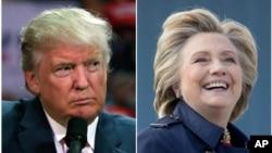 共和黨候選人唐納德川普(左)與民主黨候選人希拉里克林頓(右)10月9日將在密蘇里州舉行第二場辯論。
