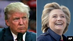 Republican presidential nominee Donald Trump and Democratic presidential nominee Hillary Clinton will meet for their second debate Oct. 9, 2016, in St. Louis, Missouri.