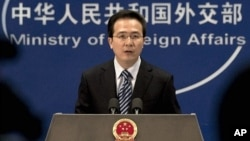 Chinese Foreign Ministry spokesman Hong Lei (file photo)