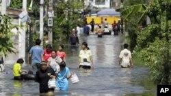 홍수피해가 계속되고 있는 태국 방콕
